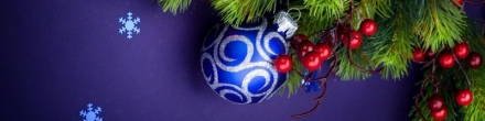multicolor-holiday-christmas-decorations-with-blue-silver-ribbon-snowflakes-banner-background-800x200