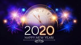 colorful-happy-new-year-2020-clock-fireworks-holidays-on-black-hero-header-design-hd-1920x1080