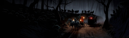 horse-carriages-and-forest-night-wolves-website-header