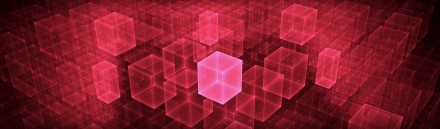 technology-transfer-design-with-red-neon-cubes