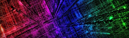 technology-background-with-electrical-design-in-rainbow-colors